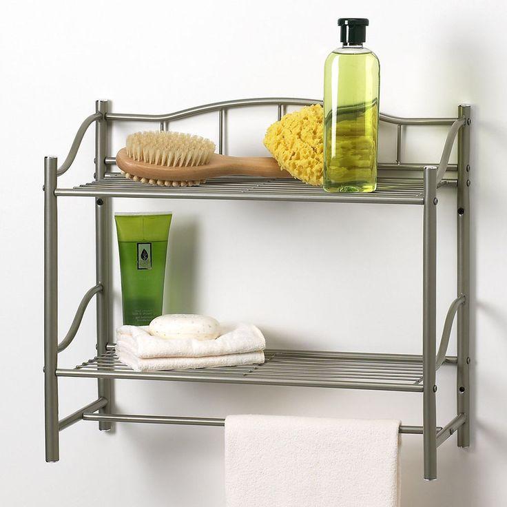 Towel Rack Bathroom Bar Shelf Organizer Wall Mounted Holder Hotel Toilet Storage #CreativeBath