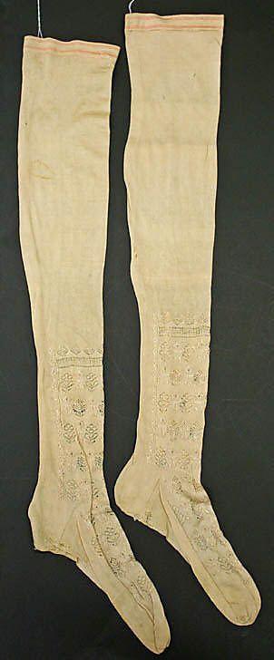 stockings  early 19th century  italian