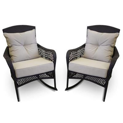 799 pack pf woven rockers hennessey 2 patio rocking rocking chairs ...