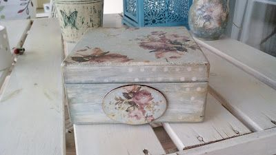 something to create: Decoupage box