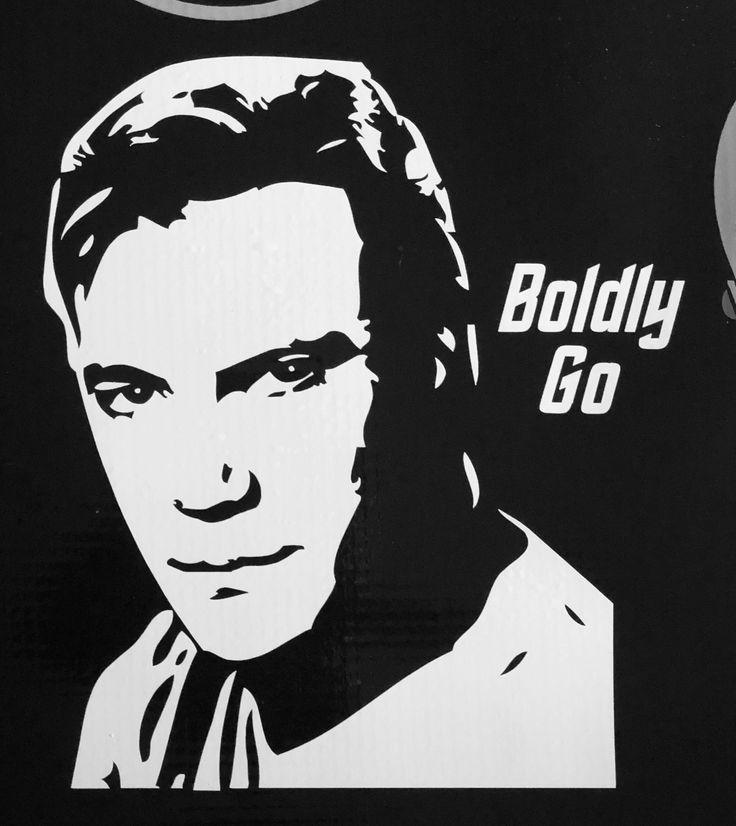 Captain Kirk vinyl decal in 2020 Captain kirk, Geekery