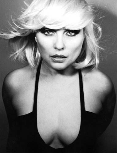 """Debbie Harry 1980's.  It was back in 1989 I was walking to lunch up on Capital Hill & there she was outside her bus, smoking a cig. We exchanged """"hello's."""" {She looked amazing!}"""