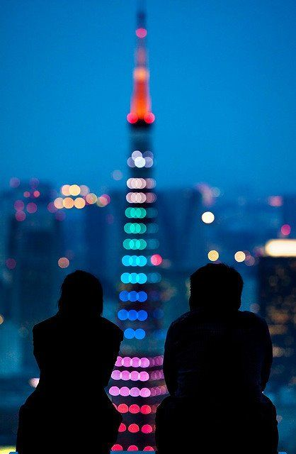 Tokyo tower blue