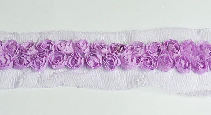 Taśma Shabby Chic Fiolet / Purple shabby chic