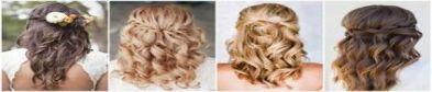 25+ Super Ideas For Wedding Hairstyles Short Curly Half Up Medium Lengths