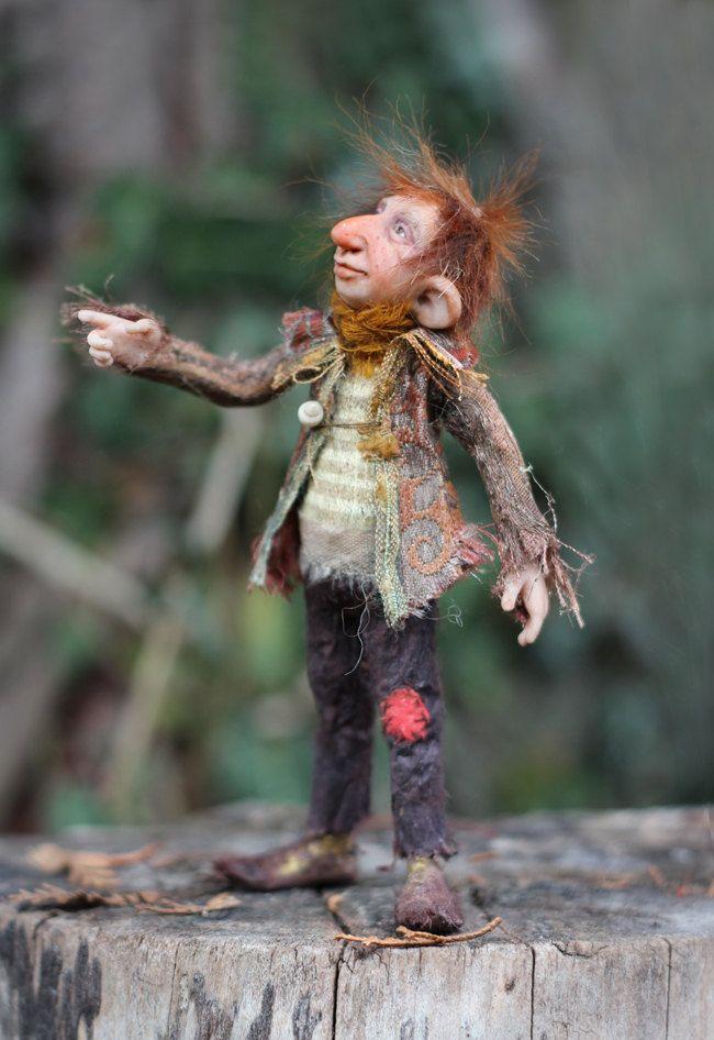 OOAK miniature artdoll 1:12th by Tatjana Raum. $465.00, via Etsy.