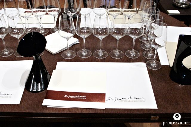 Wine tasting set-up at Stelios Kechris Domaine.