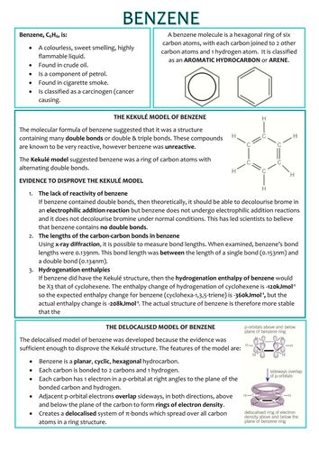 Chemistry A-Level OCR Revision Notes - Aromatic, Carbonyls and Carboxylic Acids