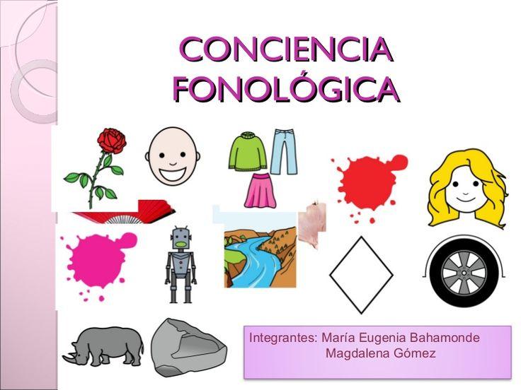 Presentación power que habla acerca de la importancia de la conciencia fonológica en el aprendizaje de la lectoescritura.
