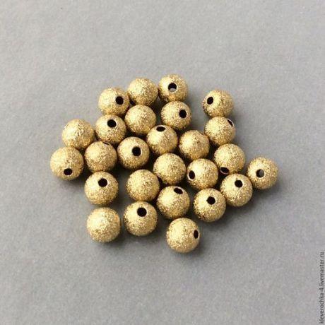 Купить Латунные 6 мм бусины полые рифленые для украшений - фурнитура для украшений, фурнитура для бижутерии