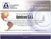 #OPtelcomSAS Nuestra empresa cuenta con certificación de la #AsociaciónLatinoamericanaDeSeguridad - #ALAS, lo que nos permite impulsar el crecimiento tecnológico de los equipos que suministramos a nuestros clientes y así mismo el acceso a capacitación e información del mas alto nivel en el ámbito de la seguridad. #OPtelcomEquiposYTelecomunicaciones