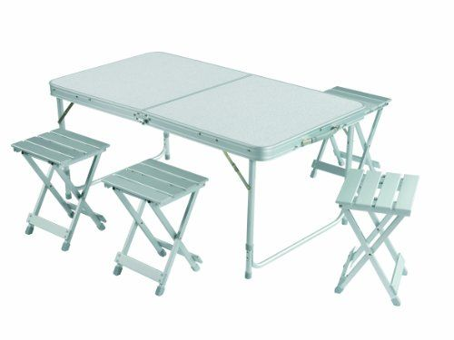 Siempre las cosas más últiles para tu hogar: Grand Canyon Alu Foldable Table Set for 4 - Mesa de camping, color gris #homedecor #garden #hogar #jardin #decoracion