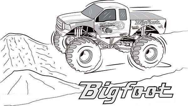 Bigfoot Monster Truck Coloring Page (With images) Truck