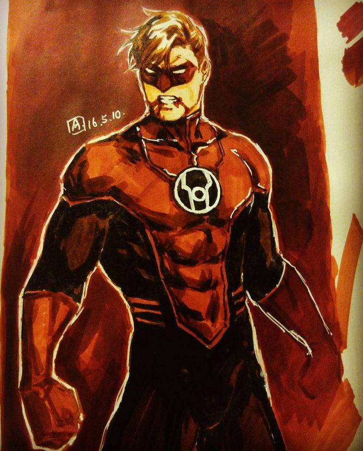 axiom_lanterns • Red Lantern Hal Jordan
