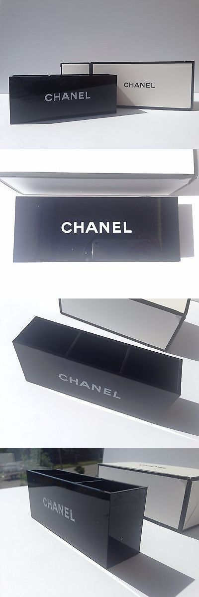 Other Makeup Tools and Accs: Chanel Vip Gift Black Glossy Makeup Brush Holder Cosmetic Organizer 3 Slots -> BUY IT NOW ONLY: $30.99 on eBay!