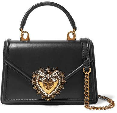 fd4b38c1f Dolce & Gabbana - Devotion mini embellished leather shoulder bag in ...