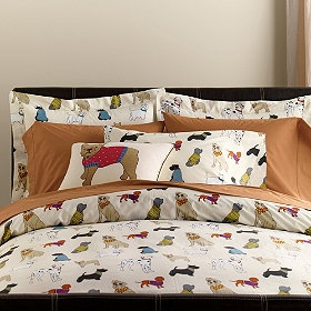 This Dog Show Percale Bedding Is Covered With Cute Dogs And Is The Perfect  Holiday Gift