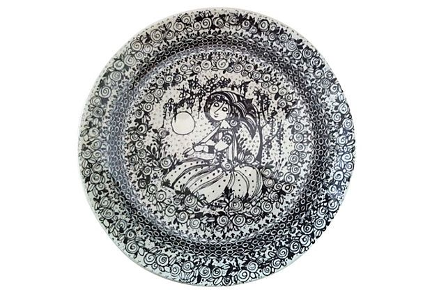 1970's Bjorn Wiinblad Plate