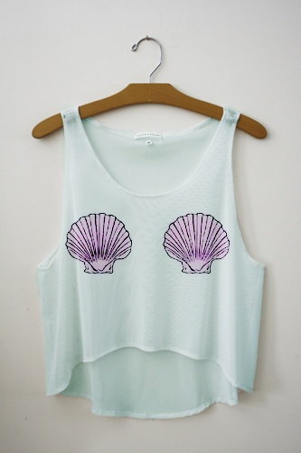 mermaid top, super cute i love this! It would be a perfect beach top