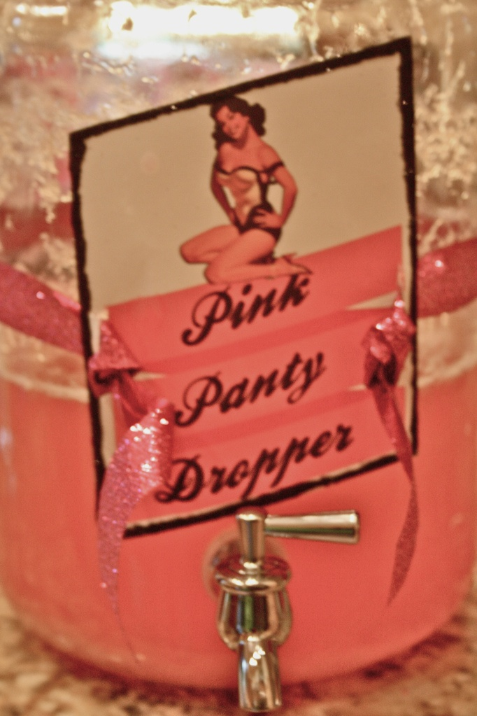 PINK PANTY DROPPERS      1/2 Gallon Vodka (does not matter if it is the expensive or cheap stuff)     5 Cans of Concentrated Pink Lemonade      13 Beers