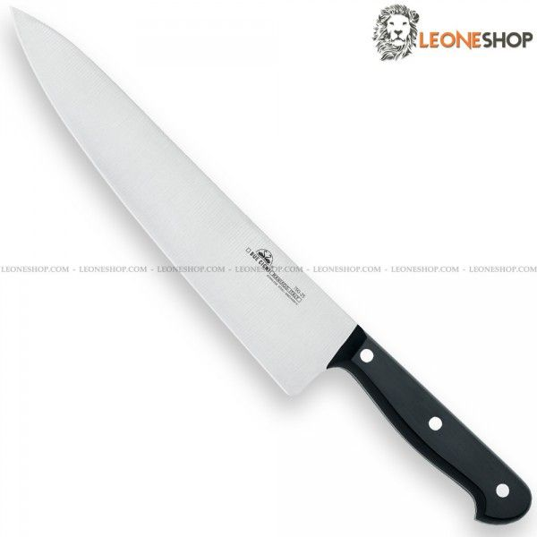 """Chef Knife of the """"Classic"""" series by DUE CIGNI Italy, Italian Kitchen Knives stainless steel 4116 - HRC 55/57 - X50Cr15MOV of high quality and black POM handle with stainless steel rivets suitable for washing in a dishwasher - Blade lenght 11.8"""" - DUE CIGNI Italy Professional chef knife, a truly exceptional product with quality materials and an excellent Italian design, guarantee of elegance in your kitchen."""