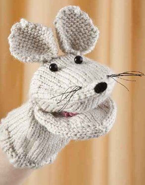 Free+Knitting+Pattern+-+Toys,+Dolls+&+Stuff+Animals:+Mouse+and+Piglet+Hand+Puppets