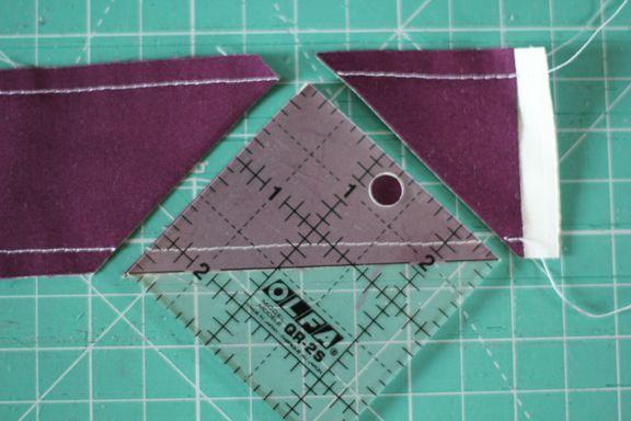 triángulos medio cuadrados