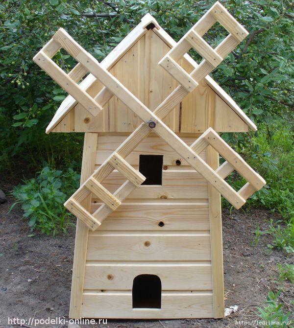 Декоративная мельница для сада своими руками из доступных материалов