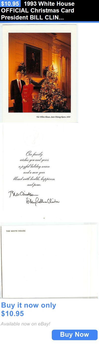 Bill Clinton: 1993 White House Official Christmas Card President Bill Clinton *New* BUY IT NOW ONLY: $10.95
