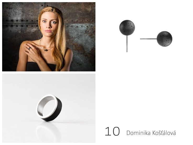 Concrete earring  design by Tomas Vacek www.studiovacek.cz designed for www.gravelli.com   The new Gravelli collection of concrete jewelry is an example of modern use of concrete as an aesthetic material. Gross industrial nature of the used materials  gets to contrast with the detailed craftsmanship processing that creates from each piece an elegant and inimitable original. In the collection is possible to choose from a variety of rings and earrings in shade of cement grey and anthracite.