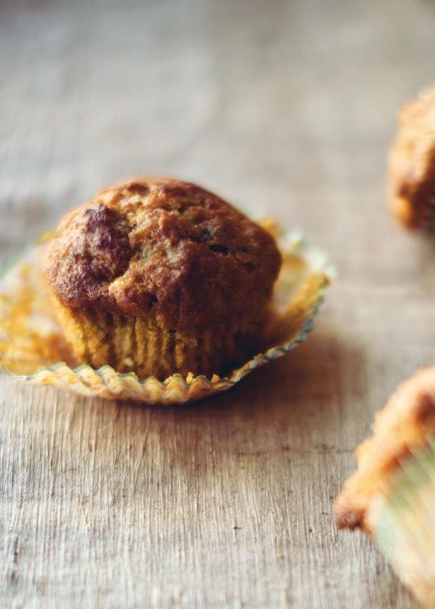 Muffins moelleux à la citrouille et à la courgette