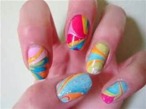 58 best water marble nail art images on pinterest water marble step by step video tutorial for water marbling nail art this is sooooo awesome prinsesfo Images