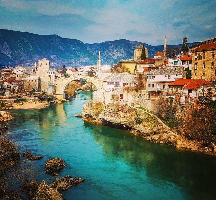 Mostar, Bosnia-Herzegovina #interrail #interrailing #interrailplanner #eurotrip #europe #travel #mostar #bosnia #herzegovina