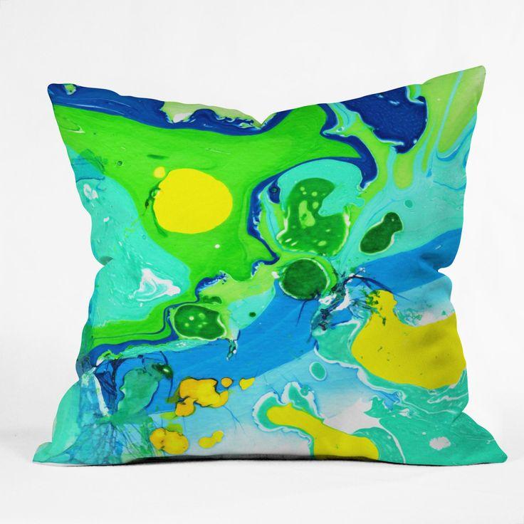 Gulf Waves Outdoor Throw Pillow Rosie Brown