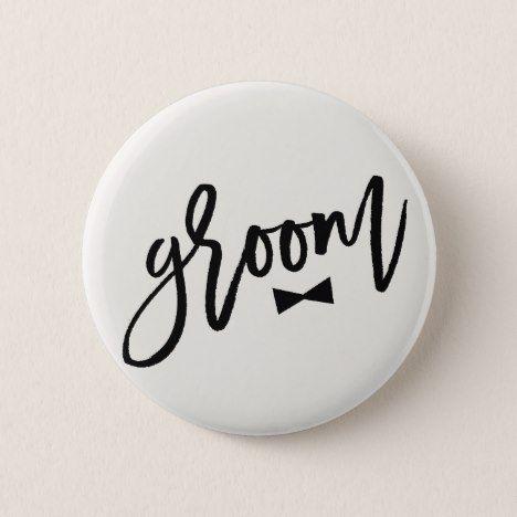 Groom Brush Bow Tie Wedding Bridal Party Button #wedding #accessories