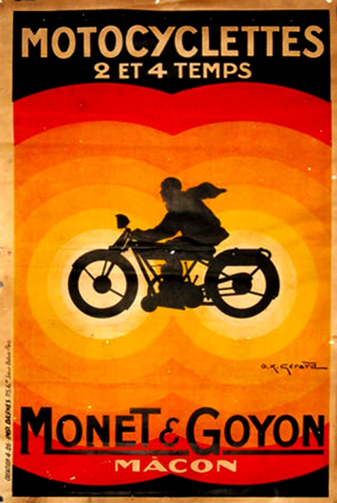 French Motorcycle Poster - 1920's