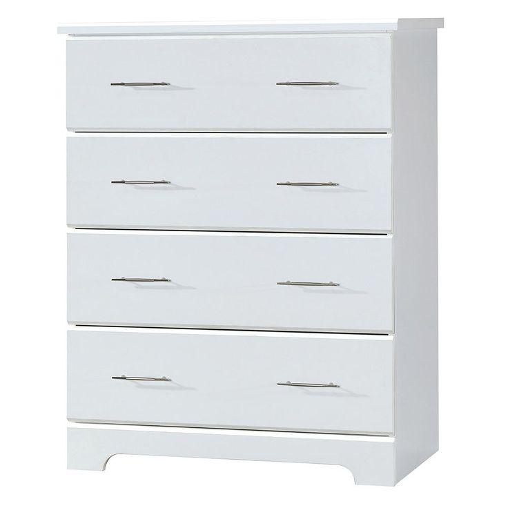 Stork Craft Brookside 4 Drawer Dresser, White
