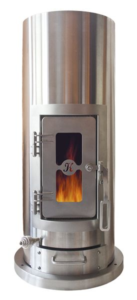 "kimberly stove - heats up to 1500 sf - easy DIY - offers cook top surface - coming soon... generate electricity, bake and heat water - needs only 6"" clearance around"