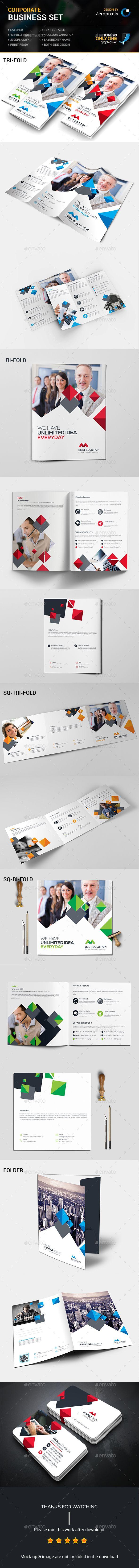 Corporate Business Brochures Set