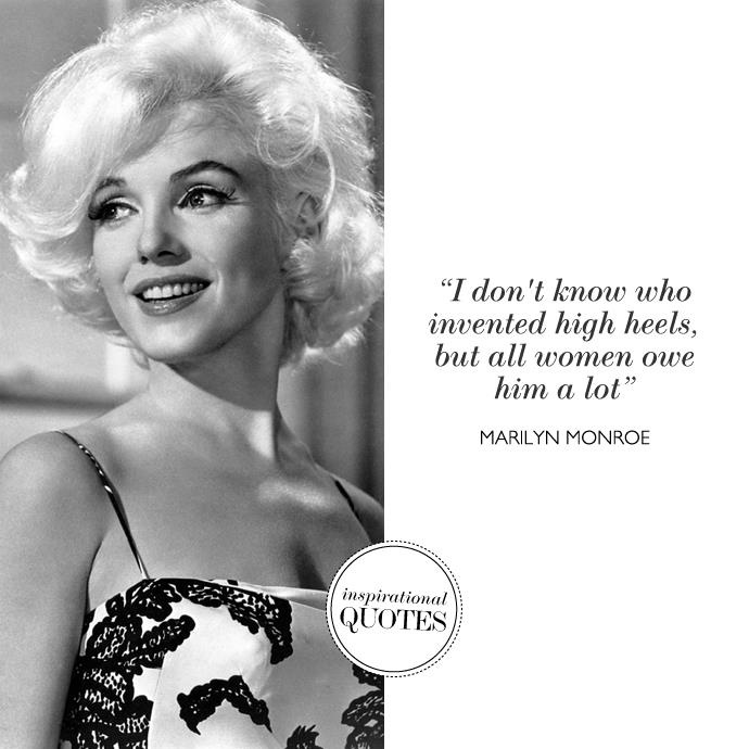 Marilyn Monroe Quotes About Men And Love: 17 Best Images About Shoe Quotes On Pinterest