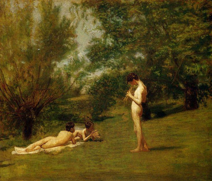 Arcadia by Thomas Eakins, Oil on canvas