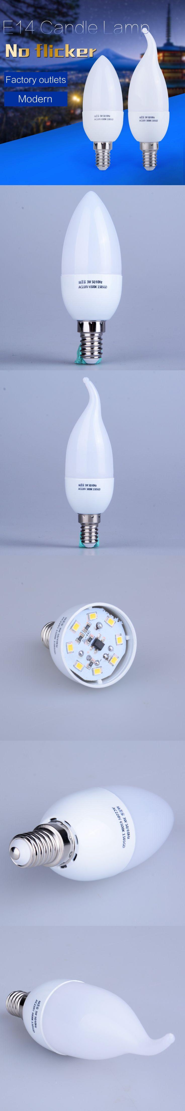 1pcs E14 Led Candle Energy Saving Lamp Light Bulb Velas Led Decorativas Home Lighting Decoration Led Lamp E14 5w 3w 220v Smd2835 $1.84