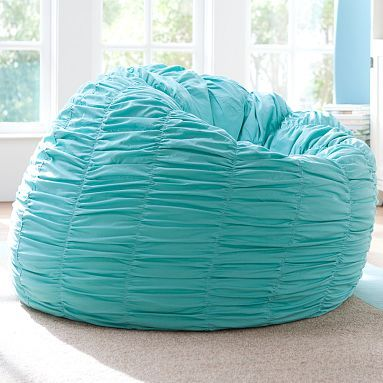 i love the ruched pool beanbag on all things. Black Bedroom Furniture Sets. Home Design Ideas