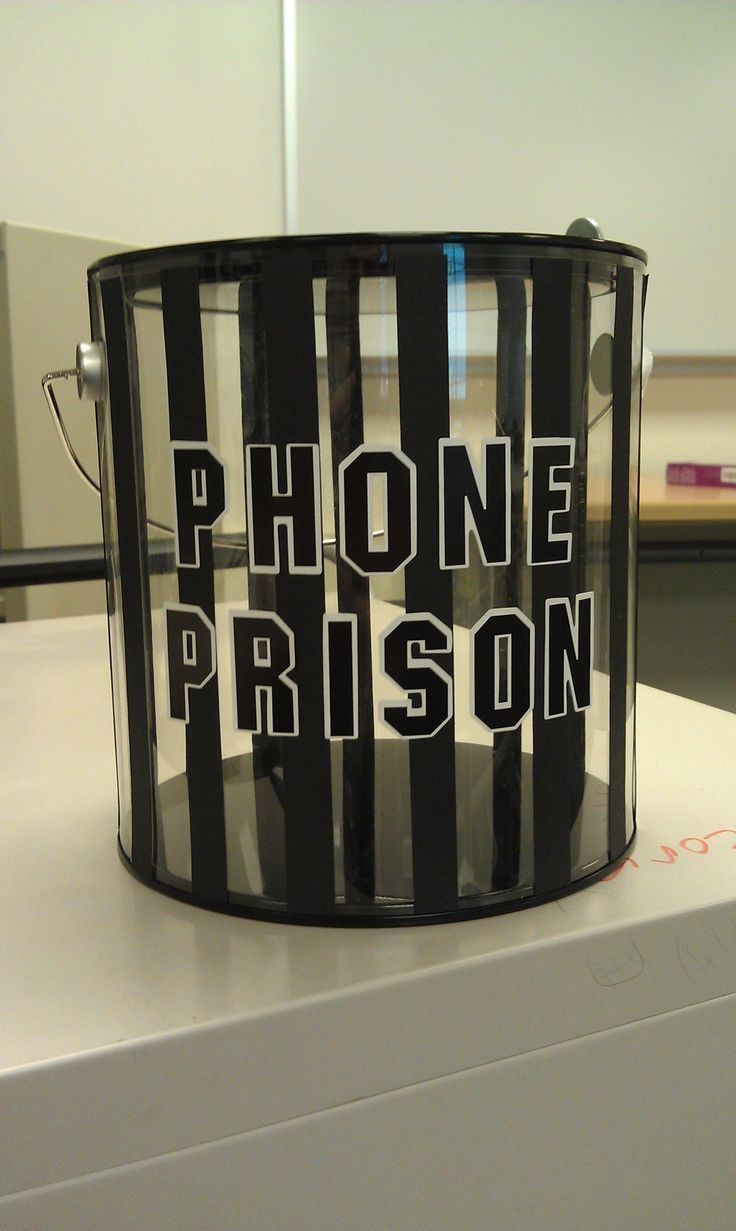Phone jail....great idea for the classroom!!