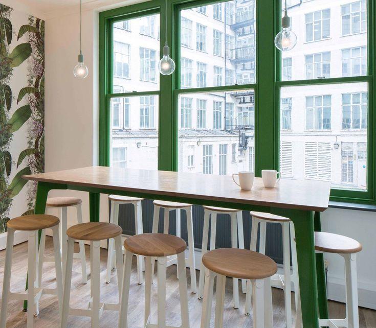 Wonderful Naughtone Fold Table. Breakout Space. Bar Table. Bar Stools
