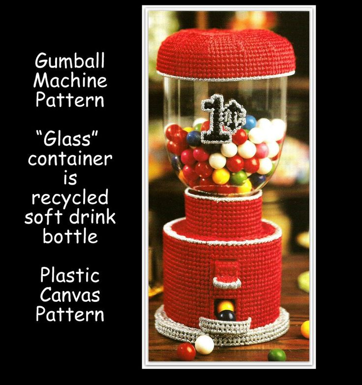 Gum Ball Machine Pattern - Plastic Canvas - Fun Toy - Pattern 01176424 by MsBobbies on Etsy