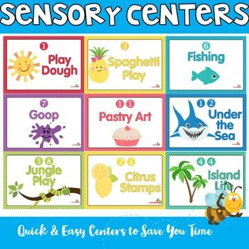 Sensory Centers that are super quick to implement and provide a wonderful variety to any early childhood program