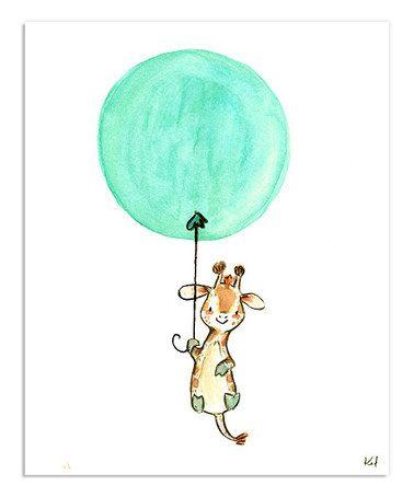 Another great find on #zulily! Aqua Float Away Giraffe Print #zulilyfinds