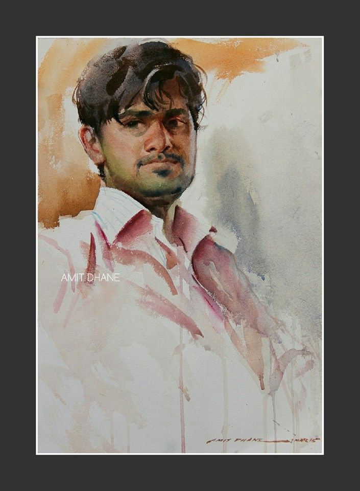 Amit dhane watercolour on paper