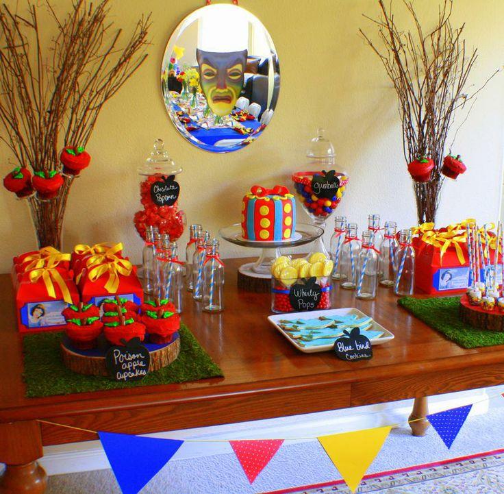 Sweet table Blanche-neige! Bel deco anniversaire!!